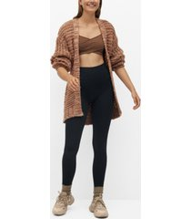 mango women's belt cardigan