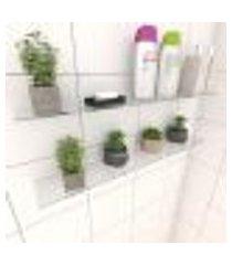 kit com 2 prateleiras para banheiro 60 cm vidro temperado