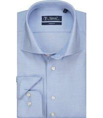 sleeve7 overhemd lichtblauw heavy oxford non iron