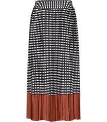 skirt-knitted knälång kjol multi/mönstrad brandtex