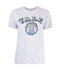 denimist camiseta yale de algodão - cinza