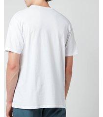 maison kitsuné men's tricolour fox patch classic pocket t-shirt - white - xxl