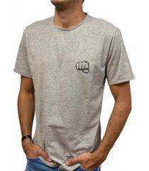 camiseta básica gris fist hombre