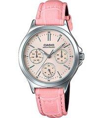 reloj casio modelo ltpv300l-4audf rosado mujer