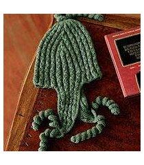 100% alpaca chullo hat, 'evergreen spirals' (peru)