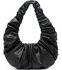 nanushka anja ruched shoulder bag - black