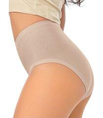 panty clásico en algodón de control suave - panty café leonisa