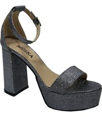 sandalia gris msk grey glitter