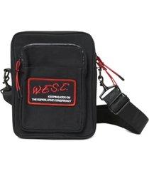 wesc men's logo crossbody bag