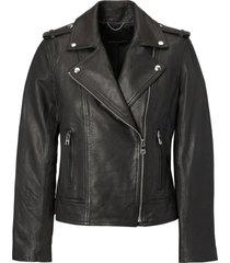 chaqueta classic leather moto negro banana republic