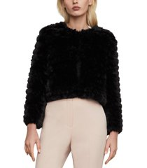 bcbgmaxazria cropped faux-fur jacket