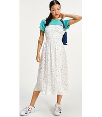 tommy hilfiger women's printed smock midi dress summer floral print - l