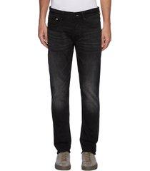 'noos razor' slim fit whiskered denim jeans