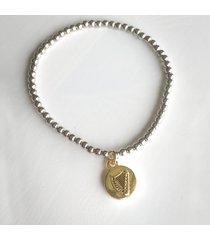 lucky harp charm bracelet