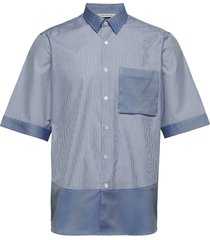 boxy shirt short sleeve overhemd met korte mouwen blauw holzweiler