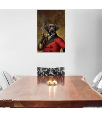 "icanvas ""the red beret (dog)"" by dan craig gallery-wrapped canvas print"