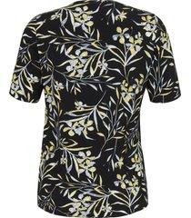 shirt met korte mouwen en bloemdessin van anna aura multicolour