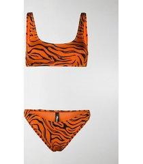 reina olga zebra-print bikini set