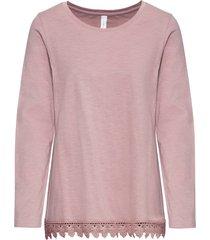 maglia a maniche lunghe con pizzo (rosa) - rainbow