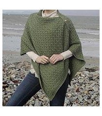 wool convertible cape, 'aran islands' (ireland)