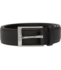 burberry square-buckle belt - black