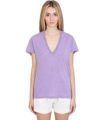 iro ponie t-shirt in viola cotton