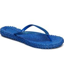 flipflop with glitter shoes summer shoes flip flops blå ilse jacobsen