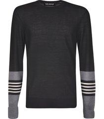 neil barrett striped applique pullover