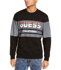 guess men's roy sport logo sweatshirt