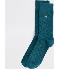 river island mens green ri monogram printed socks