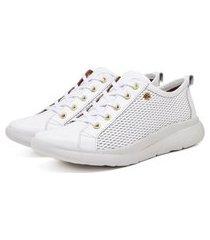 tenis sapatenis slip on ultra leve couro confort branco
