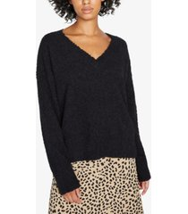 sanctuary fuzzy v-neck sweater
