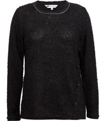 sweater tentation botones negro - calce regular