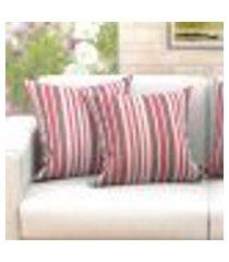 conjunto de capas de almofada com 2 peças supreme clean vermelho 60x60 cm