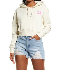 women's bp. women's city crop fleece hoodie, size xx-small - ivory