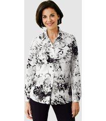 blouse paola zwart::wit