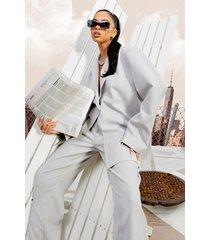 oversized linnen look blazer, taupe