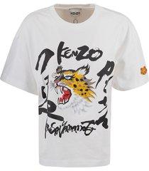 kenzo logo print loose t-shirt