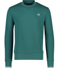 fred perry trui ronde hals petrol