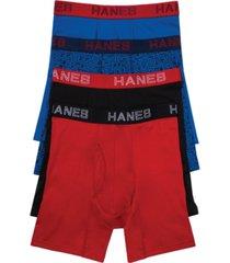 hanes men's 4-pk. platinum comfort flex fit boxer briefs
