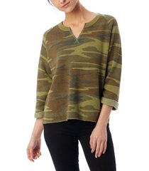 alternative apparel champ remix printed eco-fleece women's sweatshirt