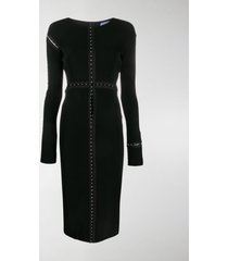 mugler longsleeved midi dress