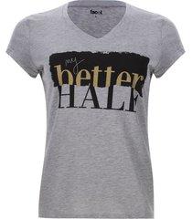 camiseta half color gris, talla l