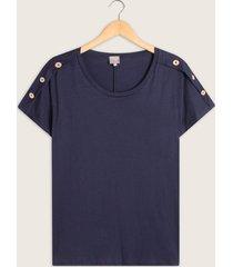 camiseta cuello redondo con botones en hombro-14