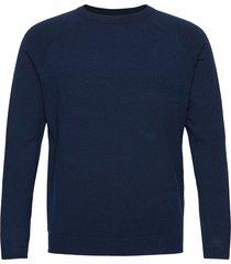onsmikkel 12 soft crew raglan knit noos stickad tröja m. rund krage blå only & sons