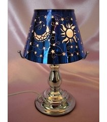 blue celestial touch lamp oil/tart warmer - use with scentsy wax