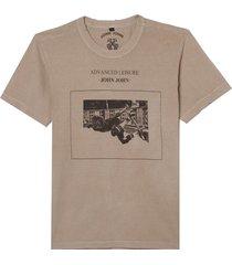 camiseta john john advanced leisure masculina (greige, gg)
