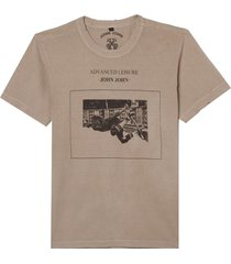 camiseta john john advanced leisure masculina (greige, gg)
