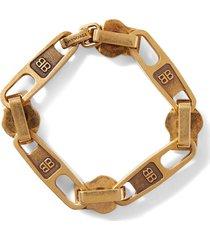 antique gold-tone zip motif bracelet