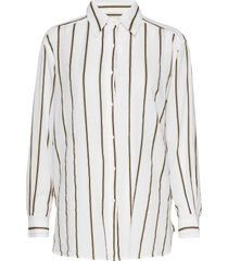 tandie stripe shirt overhemd met lange mouwen wit mos mosh